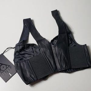 Faux leather UNIF Black Bralette